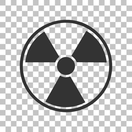 radiological: Radiation Round sign. Dark gray icon on transparent background. Illustration