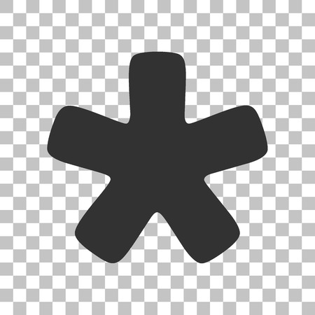 reference point: Asterisk star sign. Dark gray icon on transparent background.