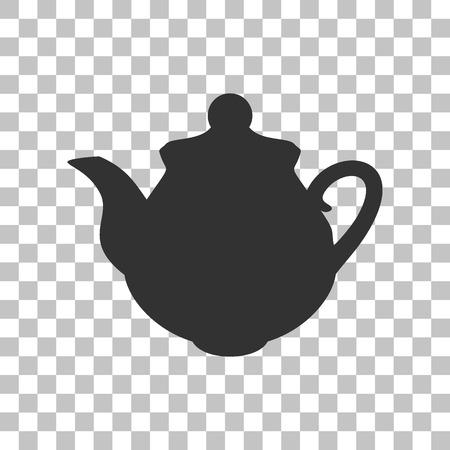 sign maker: Tea maker Kitchen sign. Dark gray icon on transparent background.