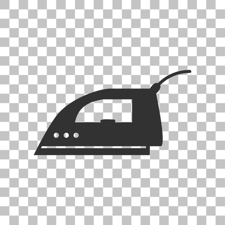 plug in: Smoothing Iron sign. Dark gray icon on transparent background.