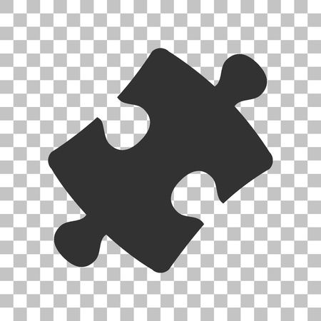 puzzle background: Puzzle piece sign. Dark gray icon on transparent background.