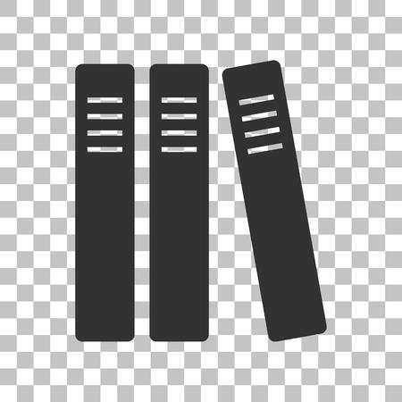 retain: Row of binders, office folders icon. Dark gray icon on transparent background. Illustration