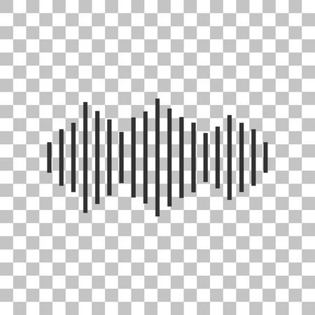 vibrations: Sound waves icon. Dark gray icon on transparent background.