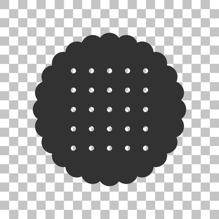 scone: Pyramid sign illustration. Dark gray icon on transparent background.