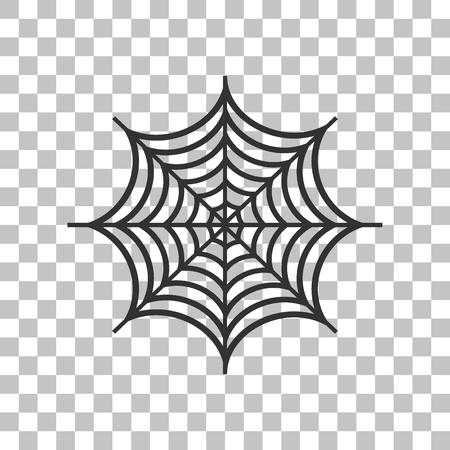 spidery: Spider on web illustration. Dark gray icon on transparent background.