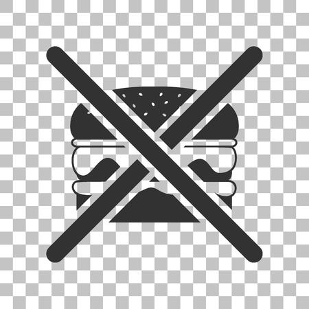 pernicious: No burger sign. Dark gray icon on transparent background.