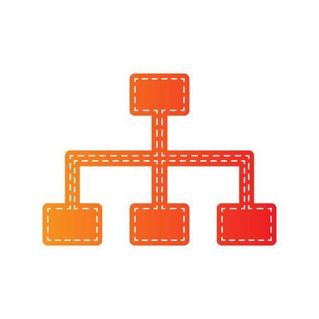 site map: Site map sign. Orange applique isolated.
