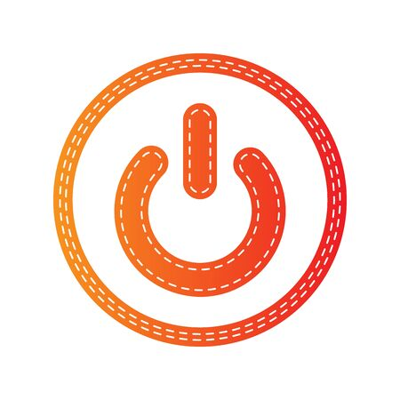 switch off: On Off switch sign. Orange applique isolated. Illustration