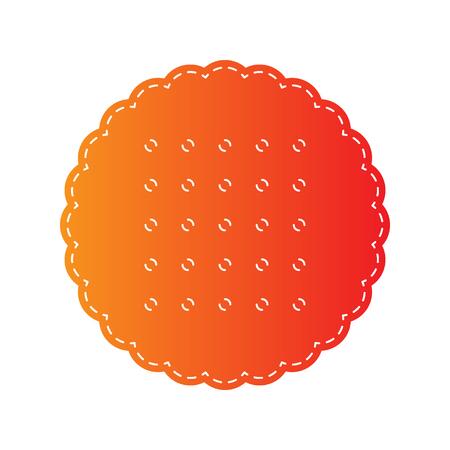 scone: Pyramid sign illustration. Orange applique isolated. Illustration