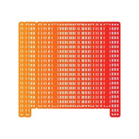 sign orange: Bar code sign. Orange applique isolated. Illustration