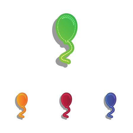 pattern: Balloon sign illustration. Colorfull applique icons set. Illustration