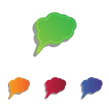 bubble speach: Speach bubble sign illustration. Colorfull applique icons set.