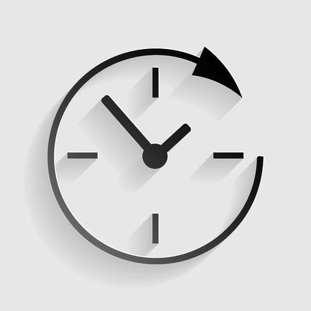 サービスおよびサポート体制と 24 時間の顧客。灰色の背景の影と黒い紙。