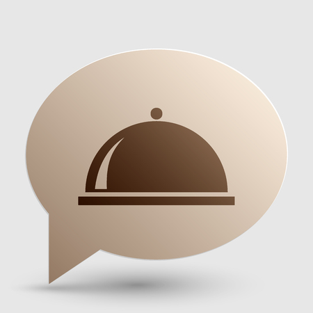 Server sign illustration. Brown gradient icon on bubble with shadow. Illustration