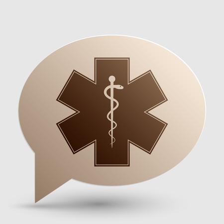 estrella de la vida: Medical symbol of the Emergency - Star of Life - icon isolated on white background. Vector.
