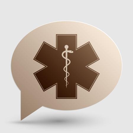estrella de la vida: símbolo médico de la emergencia - Estrella de la vida - icono aislado en el fondo blanco. Vector.