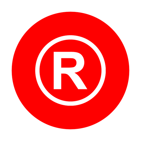Registered Trademark sign. White icon on red circle.