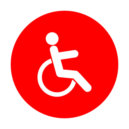 invalid: Disabled sign illustration. White icon on red circle.