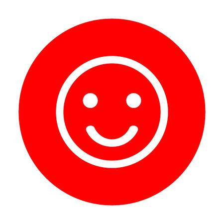 celebration smiley: Fishing Hook sign illustration. White icon on red circle. Illustration
