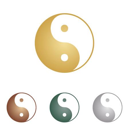 ying: Ying yang symbol of harmony and balance. Illustration