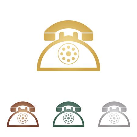 retro telephone: Retro telephone sign.