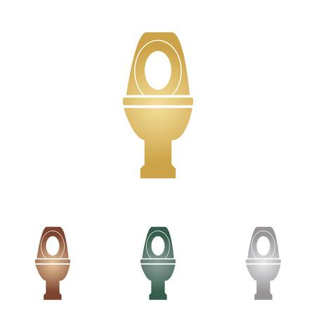 Toilet sign illustration.