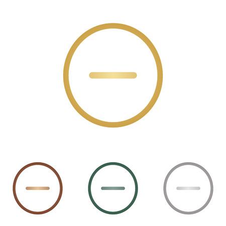 negative: Negative symbol illustration. Minus sign.