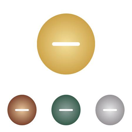 minus sign: Negative symbol illustration. Minus sign.