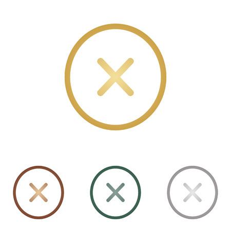 voted: Cross sign illustration. Illustration