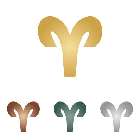 Aries sign illustration.