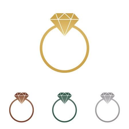 Diamond sign illustration.