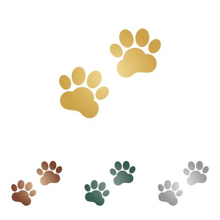 animal tracks: Pistas animales firman. Vectores
