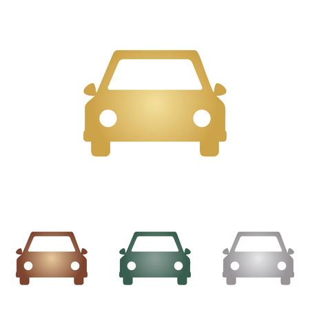 miles: Car sign illustration. Illustration