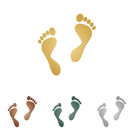 Drukken van de voet te ondertekenen. Stock Illustratie