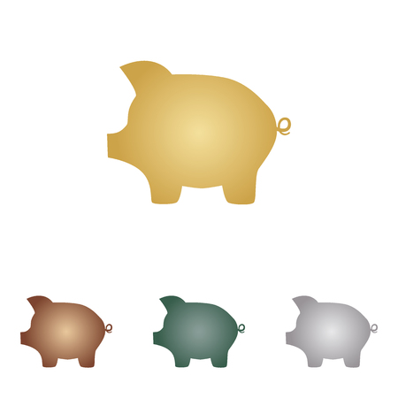 Pig money bank sign.