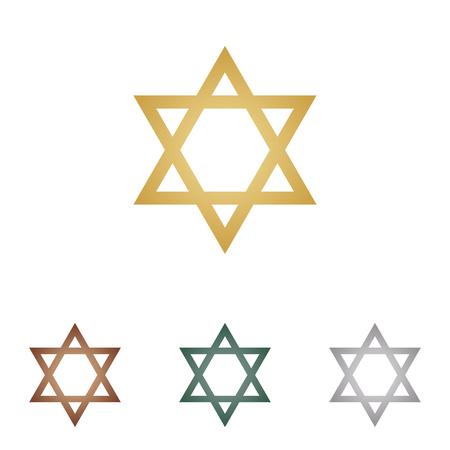 shalom: David Star. Symbol of Israel.