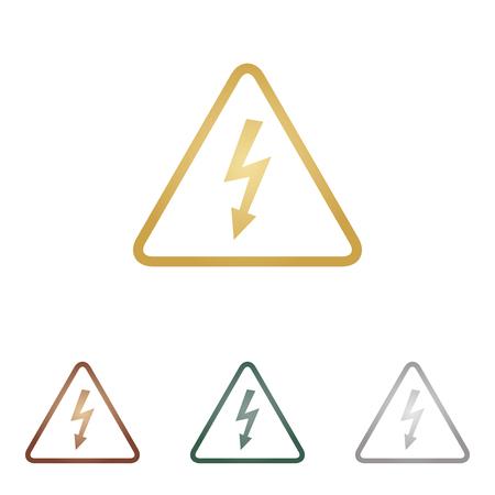 voltage danger: High voltage danger sign.