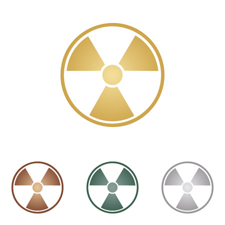 radiological: Radiation Round sign.