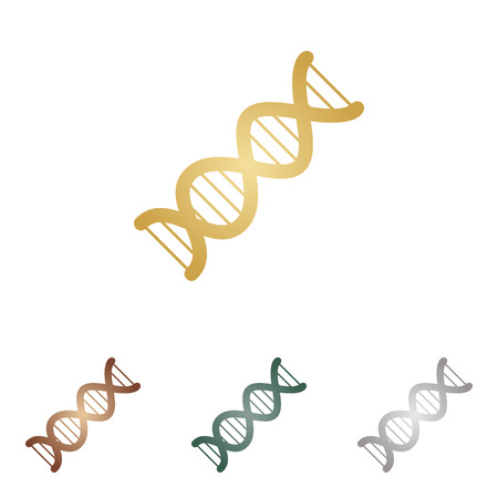 heredity: The DNA sign. Illustration