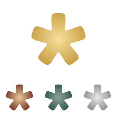 Asterisk star sign. Illustration