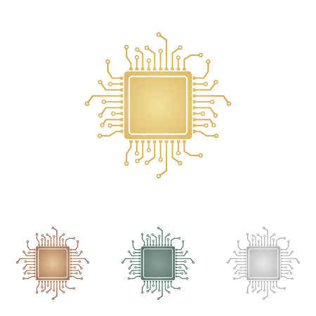 microprocessor: CPU Microprocessor illustration.