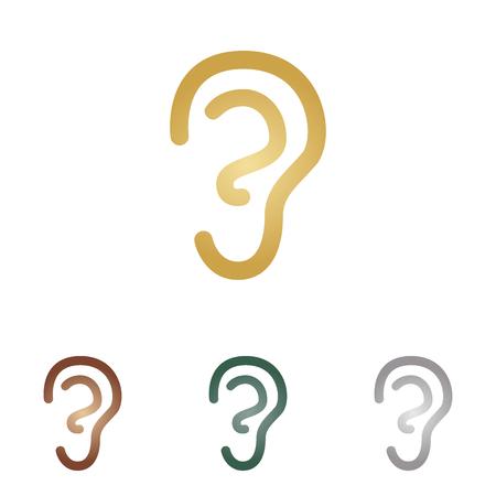 hearing aid: Human ear sign.