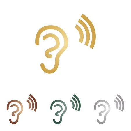 Human ear sign.
