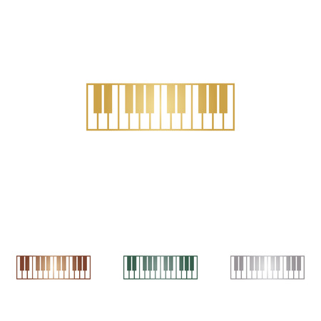 acoustically: Piano Keyboard sign. Illustration