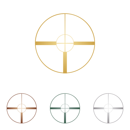 sight: Sight sign illustration. Illustration