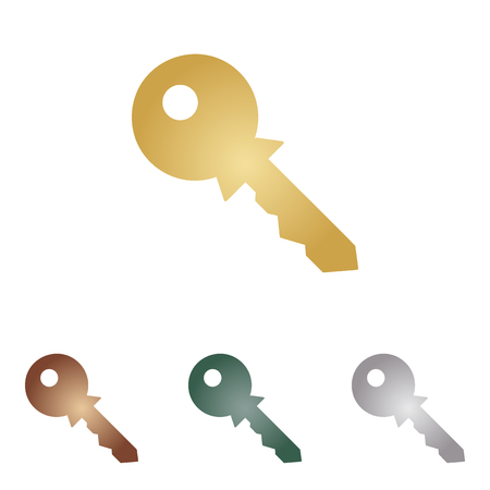 Key sign illustration.
