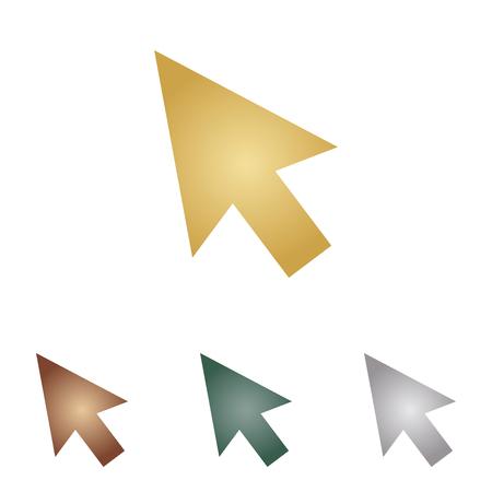 hyperlink: Arrow sign illustration.