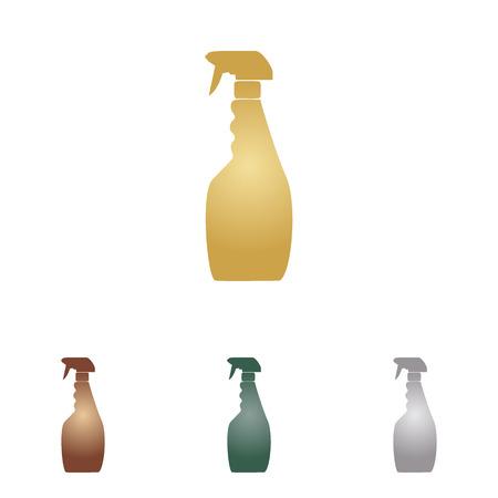 Plastic bottle for cleaning. Illustration