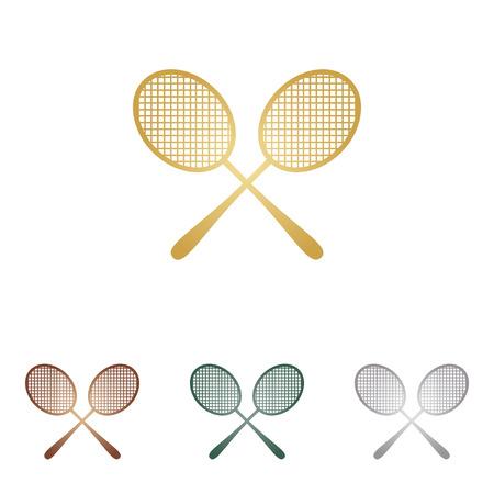 Tennis rackets sign.