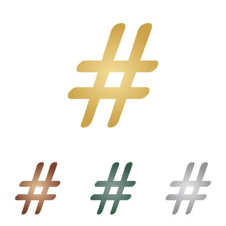 Hashtag sign illustration.